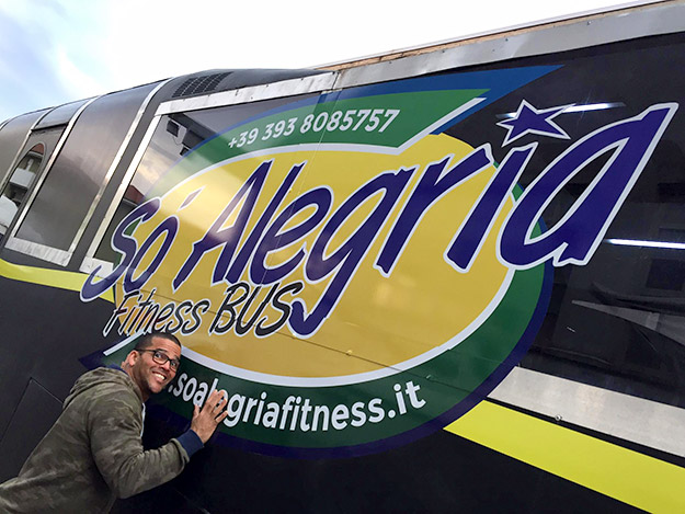 Marcos So Alegria Fitness Bus